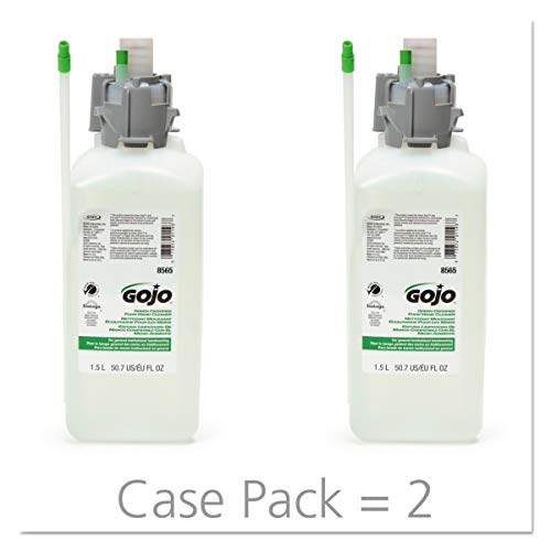 GOJO CX Green Certified Foam Hand Cleaner, Fragrance Free, 1500 mL Hand Cleaner Refill for GOJO CX Counter Mount Dispenser (Pack of 2) - 8565-02 by Gojo (Image #6)