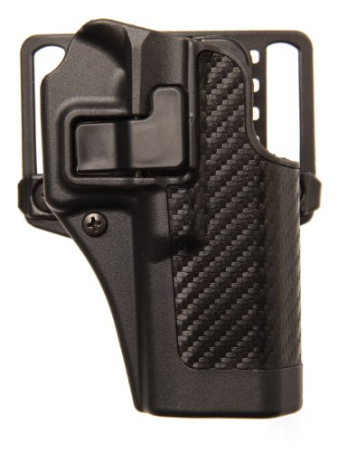 BLACKHAWK! Serpa CQC Carbon Fiber Appliqué Finish Concealment Holster, Size 03, Left (Hand Tactical Retention Holster)