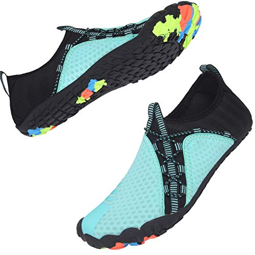 Centipede Demon Water Shoes for Mens Womens Quick Dry Barefoot Beach Swim Diving Aqua Sneakers 9.5 Women/7.5 Men