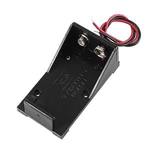 """4 piezas de plástico de la batería caso cuadro titular w 6 """"de hilo para las baterías de 9V"""