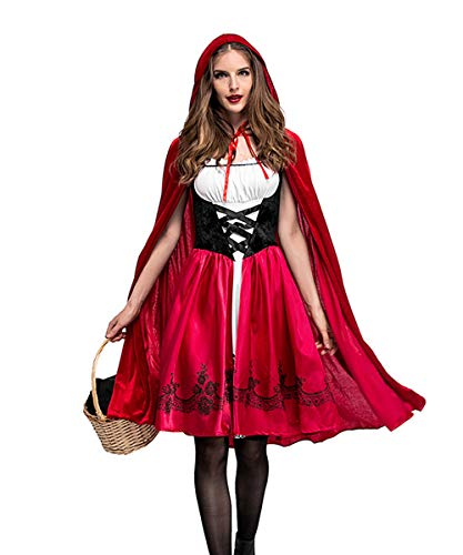 Dark Red Riding Hood Womens Plus Size Costumes - Women's Plus Size Gothic Red Riding