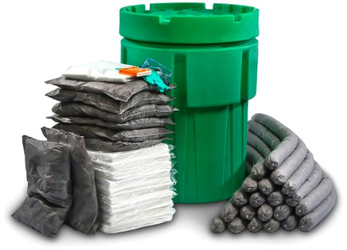 ESP SK-U95 174 Piece Ecofriendly Universal Overpack Absorbent 95 Gallon Spill Kit, 100 Gallon Absorbency, Gray (Overpack Spill Kit)