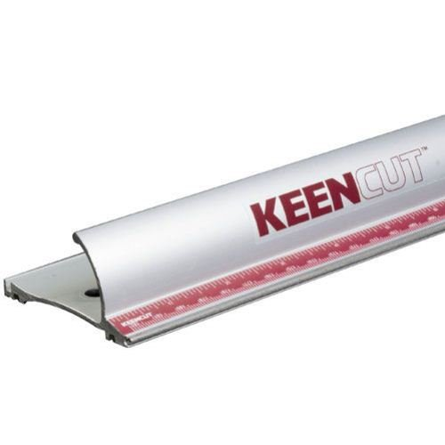 Keencut 60005 Precision Safety 54'' Laser-Trued Steel Tip Straight Edge, Super-grade Anodizing for a Good Lifetime Appearance and Function, Embedded Steel Edge to Resist Wear by Keencut