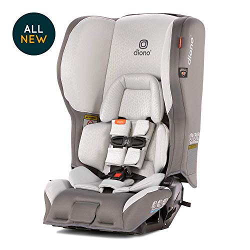Diono Rainier 2AX Convertible Car Seat - Extended Rear-Facing 5-50 Pounds, Forward-Facing to 65 Pounds - Ultimate Luxury, All Star Safety, Dark Grey