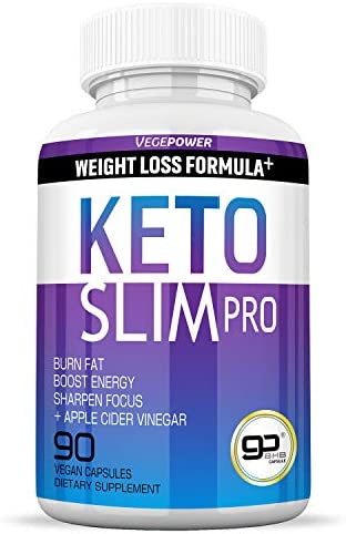 Keto Slim Pro-Keto Burn Diet Pills-BHB Supplement-Utilize Fat for Energy Ketosis, Boost Energy Focus, Manage Cravings, Detox, Metabolism Support-Advanced Exogenous Ketones for Women Men-90 Capsules