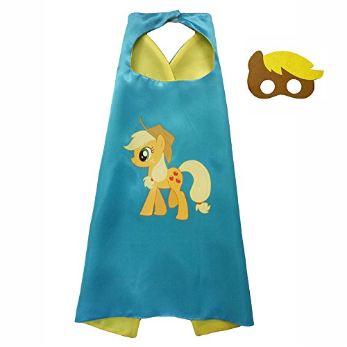 My Little Pony Costume For Boys (FASHION ALICE Kids Children's My Little Pony Hero Superman CAPE & MASK SET,Halloween Costume Cloak for Child (Apple Jack,Yellow))