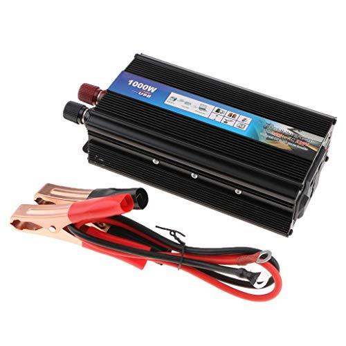 Tubayia 1000W DC 12V zu AC 220V Spannungswandler Wechselrichter für Laptop, Fernsehapparat, DVD-Spieler usw