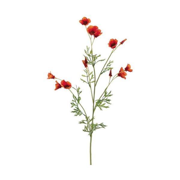 26″ Mini California Poppy Spray Orange (Pack of 12)