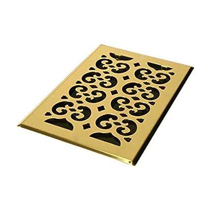Decorative Cold Air Return Covers: Brass 6 X 10