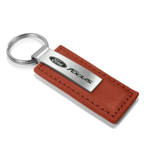 Ford Focus Brown Leather Key Chain