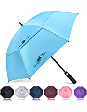 ZOMAKE Golf Umbrella 58/62/68 Inch, Large Windproof Umbrellas Automatic Open Oversize Rain Umbrella with Double Canopy for Men - Vented Stick Umbrellas