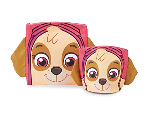 (Paw Patrol Reusable Sandwich and Snack Bags Set - Eco Friendly, Zip Closure Bags - Kids Friendly Design for Boys or Girls - Dishwasher Safe, BPA Free Design -Set of 2-1 Large/1 Small, Skye)