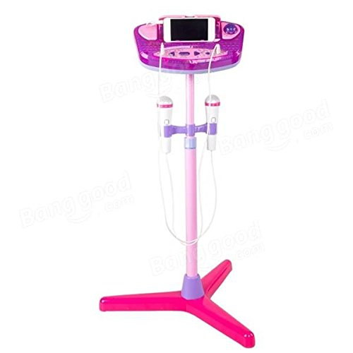 Adjustable Stand With 2 Microphones Karaoke Music Toys for Kids - Musical Instruments Pro Audio Equipment - (Pink) - 1 x Stand Sets, 1 x Control Panel, 2 x Microphones by Unknown (Image #4)