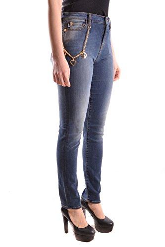 Jeans Mcbi214037o Cotone Moschino Donna Blu Love 50Ow6n