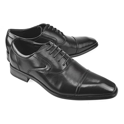 Mens Blucher Derby Shoes For Men Cap Toe Oxford Shoes Dress Shoes Formal Black Dark Brown
