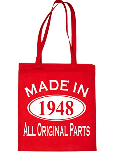 In Print4u Birthday Shopping Made Red For 1948 Life Tote Bag 70th 1qYaqCcS