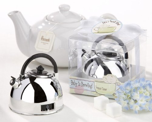 - Kate Aspen It's About Time - Baby is Brewing Teapot Timer - Set of 6 - Hostess Gift, Guest Gift, Party Souvenir, Party Favor or Decorations for Baby Showers & More