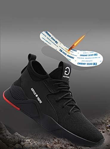 YSJD Zapatillas de Seguridad para Hombre Primavera con Punta de Acero y Antideslizantes Verano y oto/ño Ultra Liviano Transpirable Calzado de Trabajo