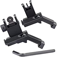 Feyachi 45 Degree Offset Iron Sights Flip Up BUIS Rapid Transition Backup Front and Rear Iron Sight Set Picati