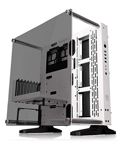 Thermaltake Core P3 TG Snow Mid Tower ATX/M-ATX/Mini ITX Wall Mounted Computer Case -White, Open frame, Tempered Glass
