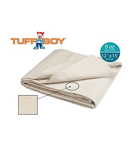 Price comparison product image Tuff Boy Cotton Canvas Drop Cloth, 12 x 15 Feet, 8 oz