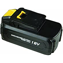Chicago 68860 18V NiCd Replacement Battery 1500 mAh