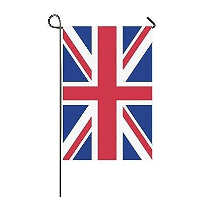 Brownnrio Custom Garden Flag Union Jack Flag of United Kingdom Garden Flag 12 x 18 Outdoor Decor