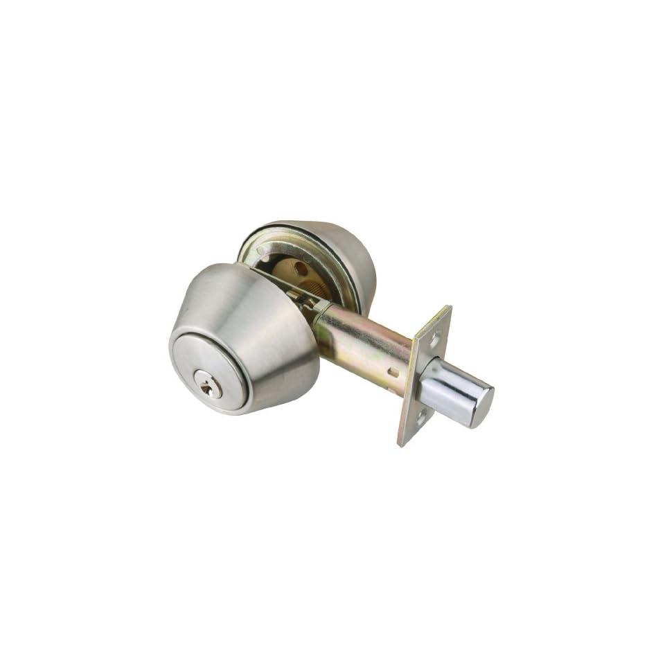 Design House 701722 C Series Satin Nickel Keyed Entry Deadbolt