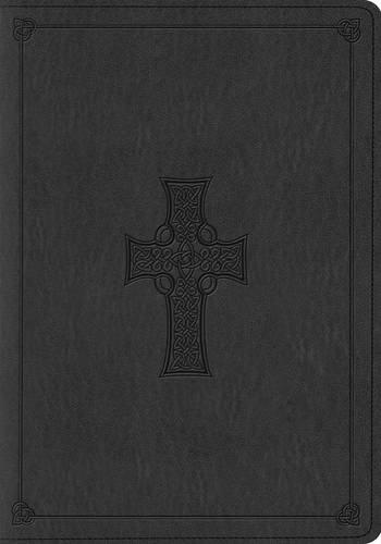 ESV Large Print Bible (TruTone, Charcoal, Celtic Cross Design) (Cross Celtic Esv Bible)