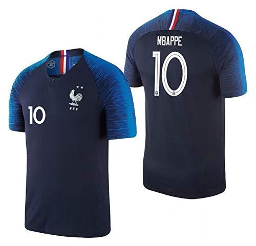 huge discount 7ef7e 6c3b4 Mbappe France #10 Youth Soccer Jersey Home Short Sleeve Kit Shorts Kids  Gift Set (YS (6-8 Years), Kit)