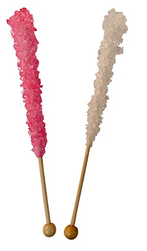 (Its a Girl Baby Shower Rock Candy Sticks 12 Count LIGHT Pink and White For Gender Reveal Parties OR Baby Showers-BUBBLE WRAPPED FOR SAFETY)