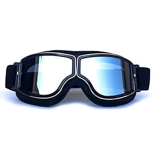 Easy-topbuy Skibrillen Brillenträger Verspiegelt Motorrad Goggle Off-Road Schutzbrille Winterbrille Brille Vintage…