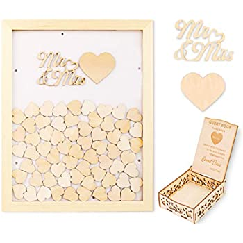 Amazon Com Wedding Guest Book Alternative With Hearts