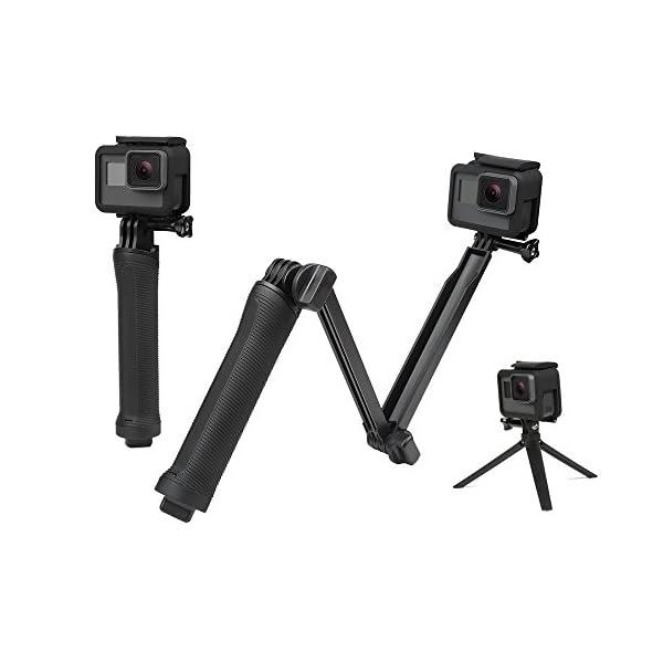YANTRALAY SCHOOL OF GADGETS 3-Way Monopod Grip Arm Tripod Foldable Selfie Stick, Stabilizer Mount Holder for GoPro Hero 7/6/5, SJCAM SJ6, SJ7, SJ5000, Yi and All Action Cameras (Black) 1