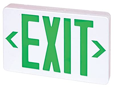 Elco Lighting EELED LED Exit Sign Green or Red Letters Single/Double Face Configurable