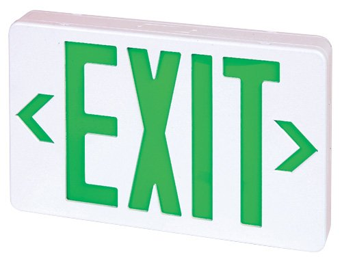 Single Face Green (Elco Lighting EELE6 LED Exit Sign Green or Red Letters Single/Double Face Configurable)