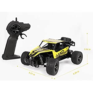 RC Cars, All Terrain Remote Control High-Speed CarxFF0C;Offroad 2.4Ghz 2WD Remote Control Monster Truck, Best Christmas Gift for Kids and Adults(Yellow)