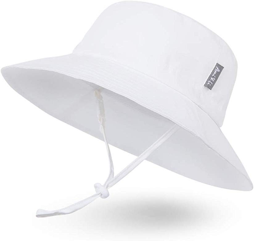 Baby Hat,Adjustable Sunscreen Bucket Sun Protection Summer Hat for Baby Girl Boy Infant Kid Toddler Child UPF 50