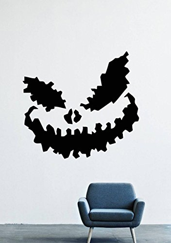 Halloween Wall Decals – Vinyl Halloween Stickers Men Kids – Horror Stickers Car Truck Mouse Animal Silhouette Black Undead LM2767 ()