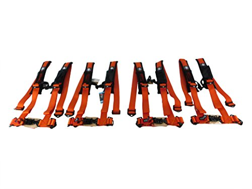 Pro Seat Comfort Pad (Pro Armor A114220ORMPK4 Orange Pack of 4 Harness, 4 Pack)