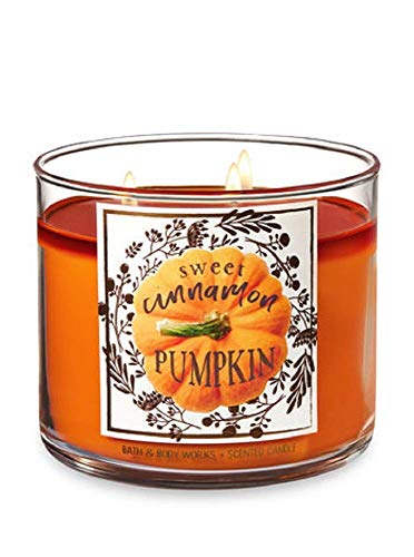Bath and Body Works Thankful Candle Sweet Cinnamon Pumpkin 3 Wick 14.5 oz