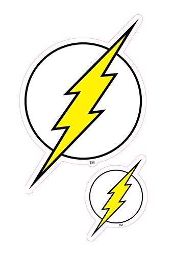 Enjoy It DC Comics The Flash Logo Car Stickers, 2 pieces, Outdoor Rated Vinyl Sticker Decal