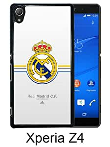 Real Madrid Black Sony Xperia Z4 Screen Phone Case Genuine and Luxury Design