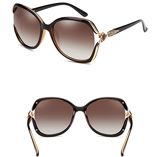 Elegantes Marrón Gafas Gafas Sol Con Polarizadas color Sol LIUXUEPING De De Color Marco Multi dB6xIwqBO0