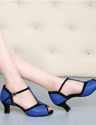 shangyi pas personnalisables–talon compensé–cuir–Latin–Femme - Marron 9jLBwxTeM