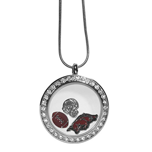 Siskiyou NCAA Arkansas Razorbacks Charm Locket Necklace, 18