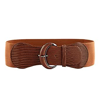 NEW OOPS Elastic Women Wide Belt for Dresses Ladies Brown Black Waist Belt Stretch Thick Belts Cinch