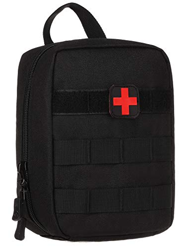 ArcEnCiel Tactical Military MOLLE EMT Medical First Aid IFAK Blowout Utility Pouch (Black) -