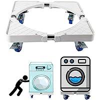 洗濯機台 冷蔵庫台 かさ上げ 寸法調節可能 キャスター付き 伸縮式 ドラム式 全自動式対応(4輪)