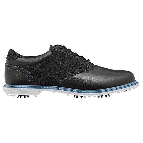 NEW Mens Ashworth Leucadia Tour Golf Shoes Black Blue Sz 7.5 M -Ret $170